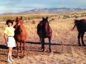 on the family ranch in Jordan Valley, Oregon in the 1980s